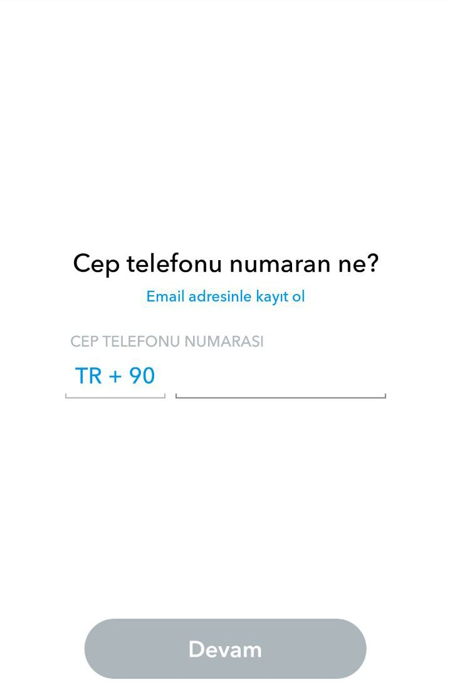 Snapchat Kayıt Cep Telefonu Onayı